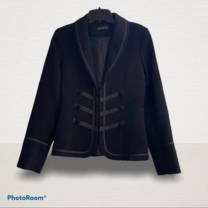 Limite Military Style Blazer With Ribbon Detail